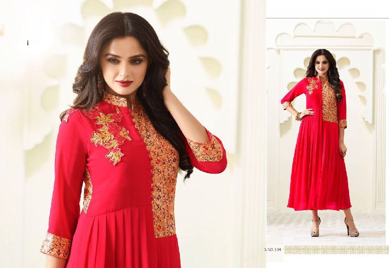 dfa60f91e1 Designer Long Embroidered Kurtis Manufacturer in Maharashtra India ...