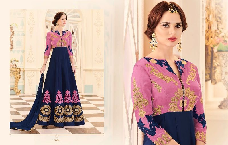 7b426a1ac5 Designer Silk Long Suit Manufacturer in Maharashtra India by Krivi ...