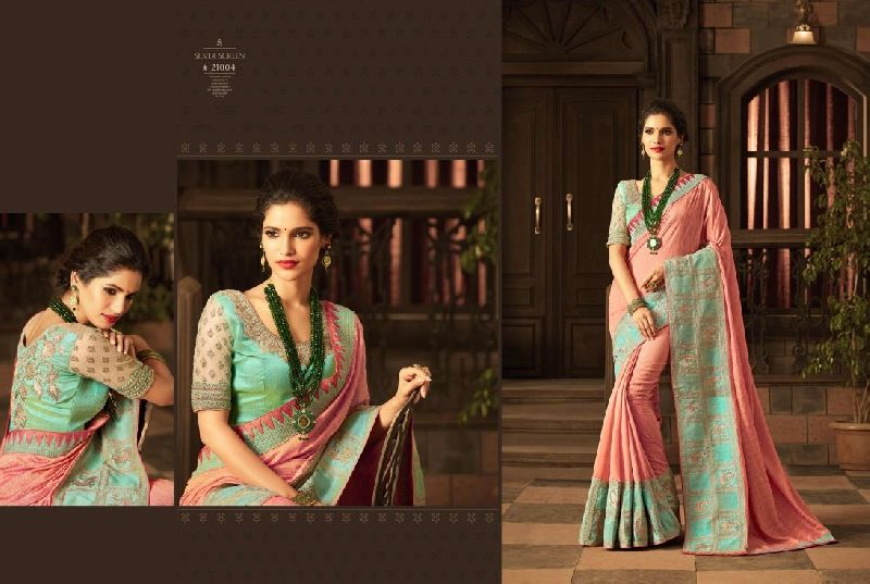 3e937b82d6 Handloom Silk Embroidered Saree Manufacturer in Maharashtra India by ...