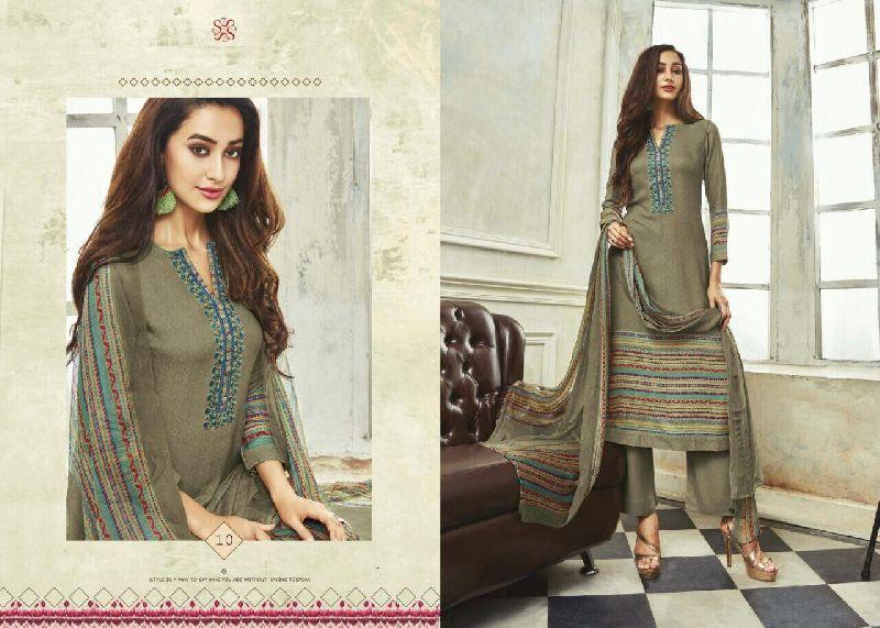Embroidery Work Winter Salwar Suit (10)