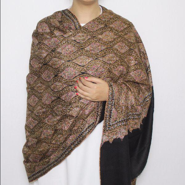 Hand-Embroidered Jamawar Pashmina Shawl