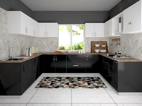 Services U Shaped Modular Kitchen Designing Services From