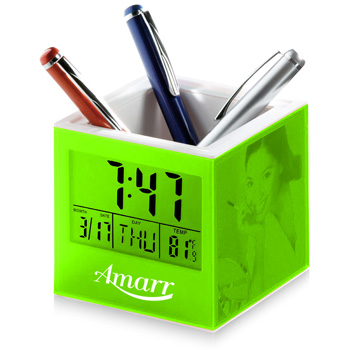 Pen Holder with Clocks