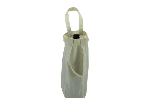 Cotton Plain Wine Bottle Bag