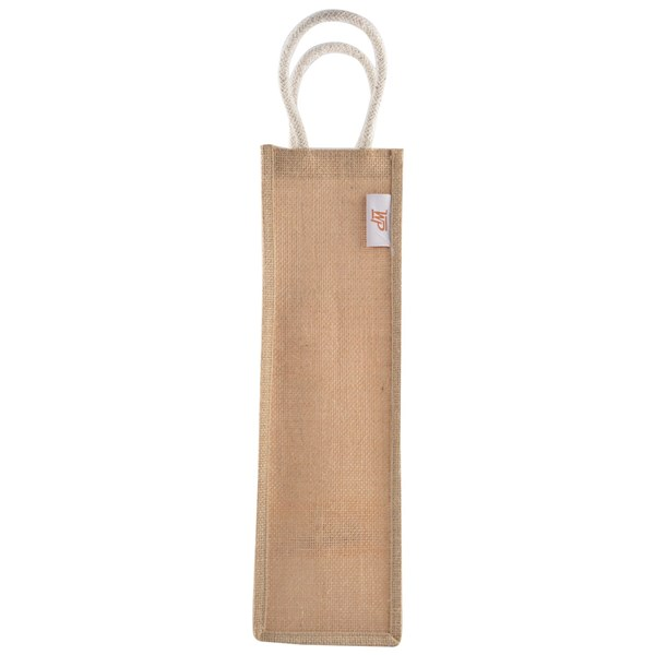 Jute Plain Water Bottle Bag