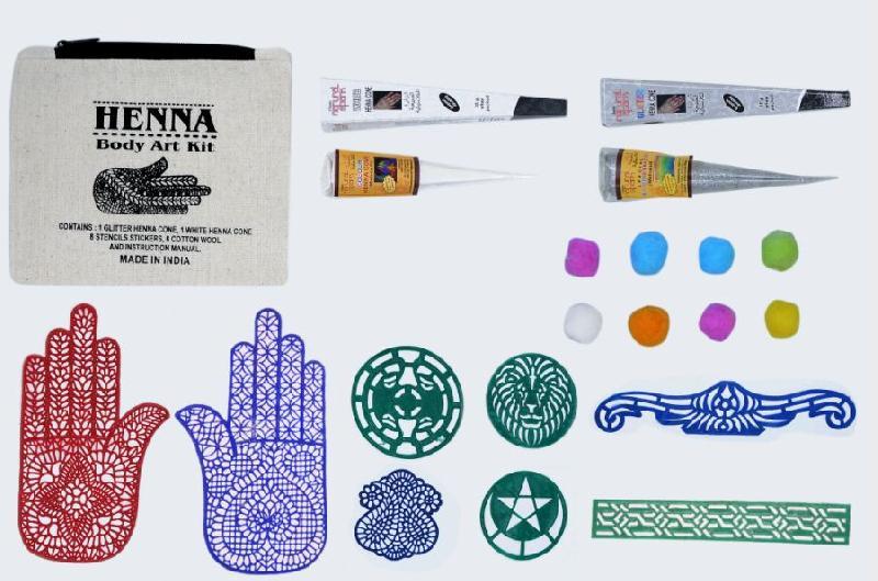 Silver Glitter White Henna Body Art Kit Manufacturer In Gurgaon Haryana Id 3204837