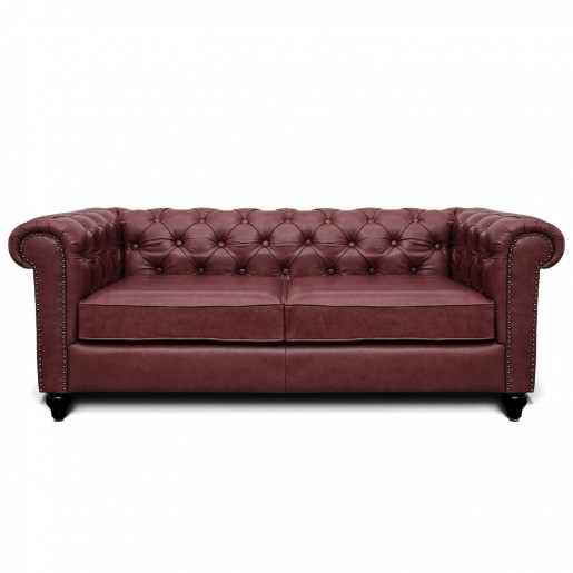 Pleasant Wine Leather Jacob Chesterfield 3 Seater Sofa Manufacturer Gamerscity Chair Design For Home Gamerscityorg
