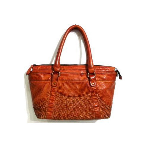 Ladies Leather Brown Shoulder Bags (OMSS160065)