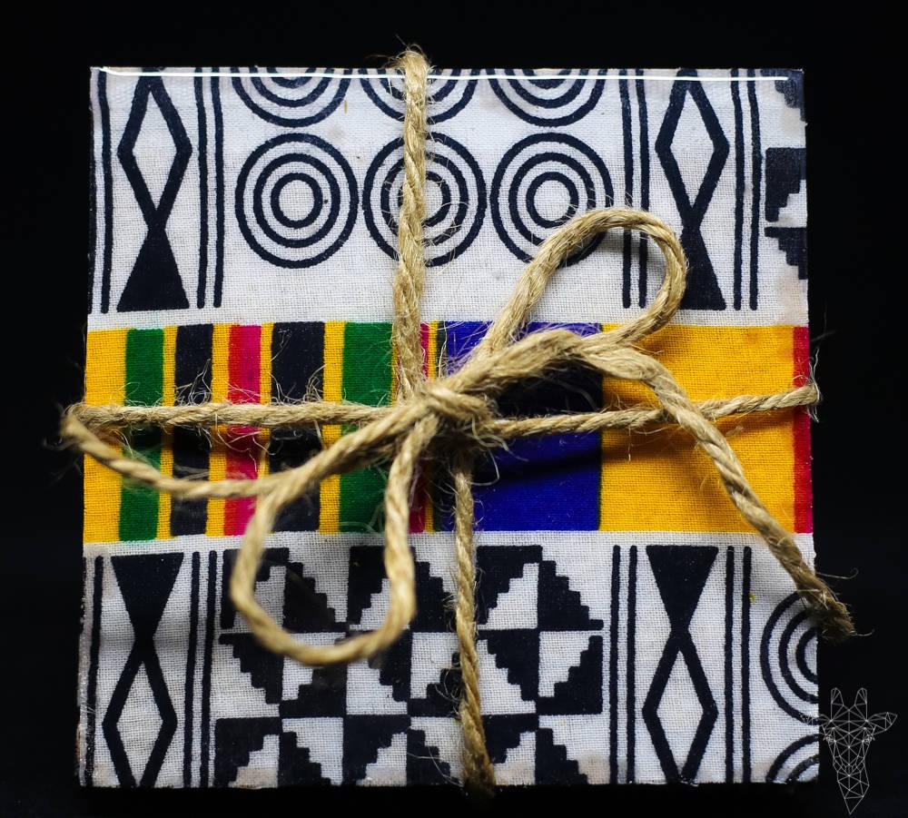 Nambili Ankara Fabric Coaster Set