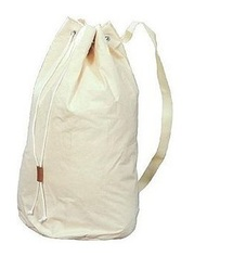 Cotton Bag with Round Bottom, with Shoulder Strap