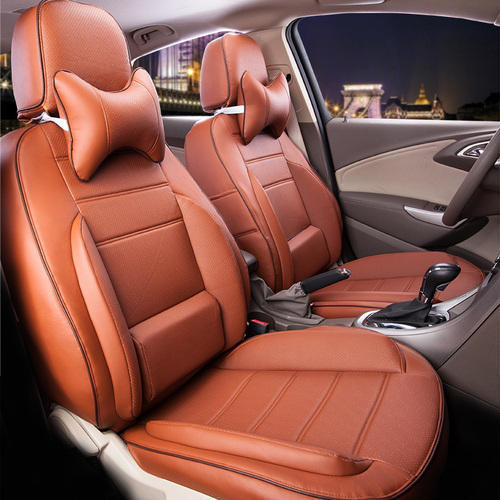 Car Seat Cover Design >> Leather Brown Car Seat Covers