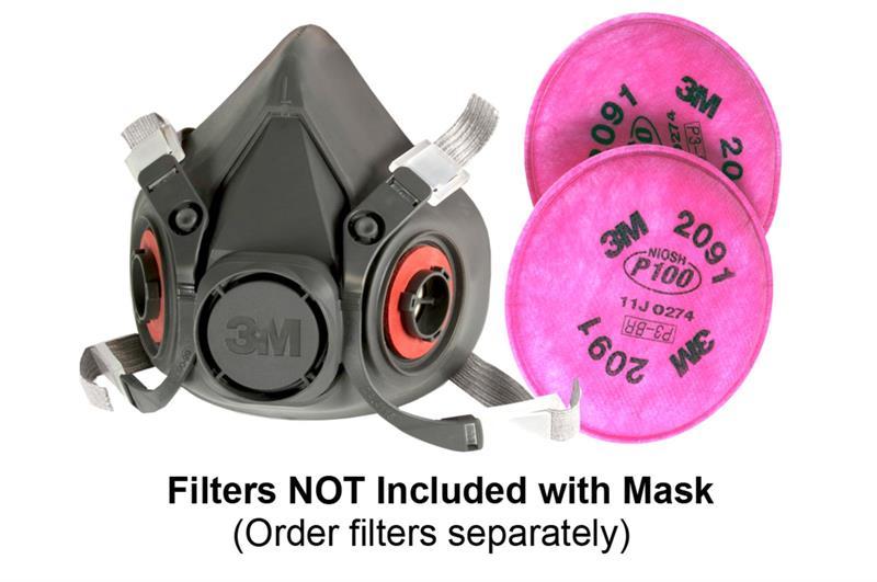 Half face respirator mask