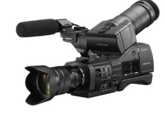 Entry level large sensor NXCAM camcorder.