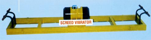 double beam screed board vibrator