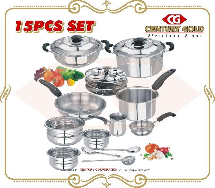15 pcs induiction base cookware set