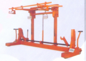SINGLE WARP BEAM TROLLEY WITH HARNESS MOUNTING DEVICE