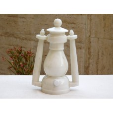 Lantern made of Glossy White Marble