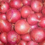 Fresh red and white onions