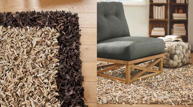Handmade Leather Shaggy Carpet