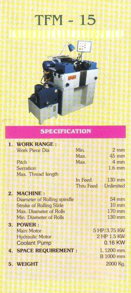 rolling machine parts