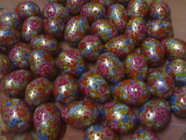 Handicraft Papier Mache Easter Eggs