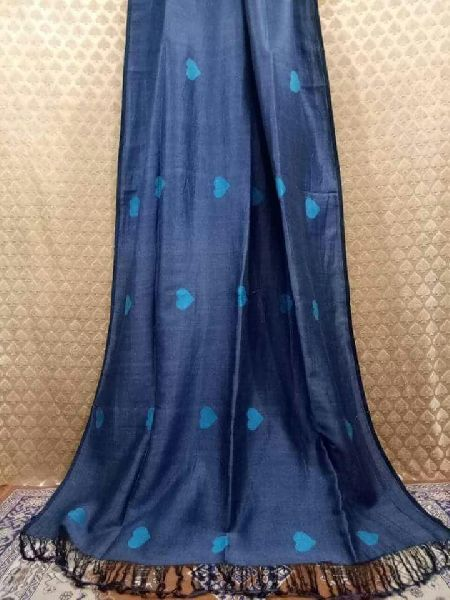 100 count linen sarees with heart motif and blouse piece