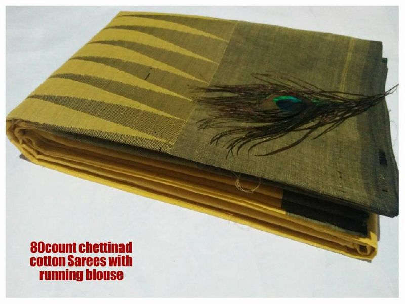 80 count chettinad sarees with running blouse