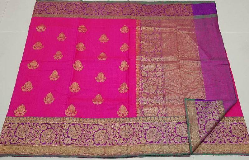 Banarasi pure handloom kadiyal dupion silk sarees