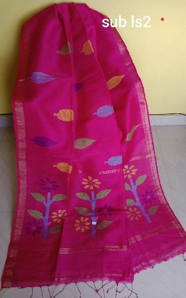 exclusive premium silk by linen jamdani sarees with blouse piece