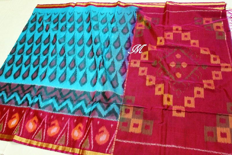 Handloom Pochampally ikkat sico silk sarees