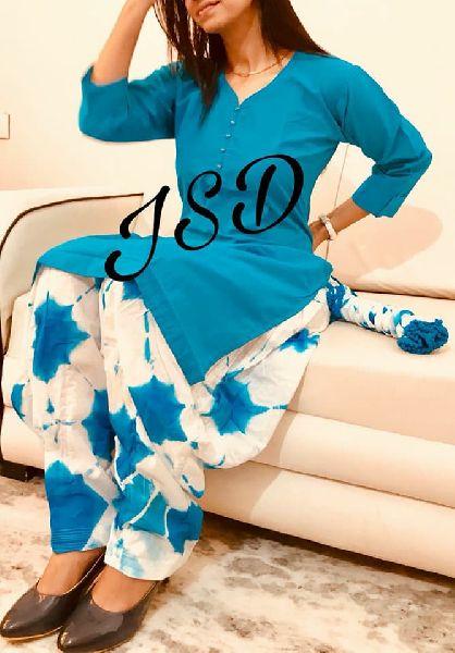 JSD Readymade cotton patiyala set
