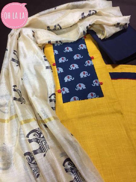 oh la la designer salwar suits with fancy dupatta
