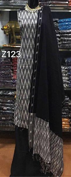 Pochampally ikkat handloom pure cotton dress materials