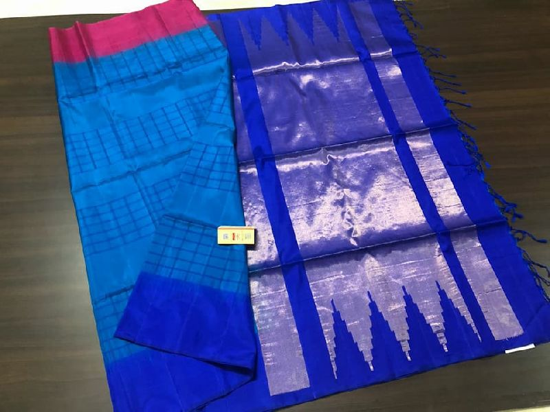 pure 3d gadwal silk sarees with rich pallu and contrast blouse