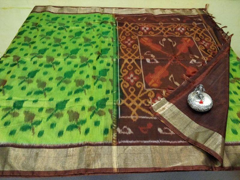 Pure handloom ikkat double warp silk cotton sarees
