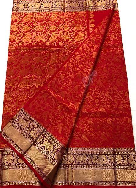 Pure Handloom Kanchi Designer Pattu Sarees