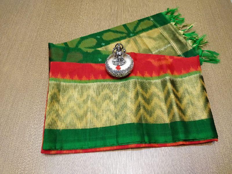 Pure ikkat handloom silk cotton sarees