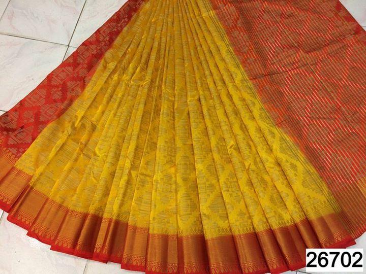 pure tussar silk sarees with contrast pallu