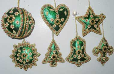 hand embroidered christmas ornaments 01 hand embroidered chr - Embroidered Christmas Ornaments