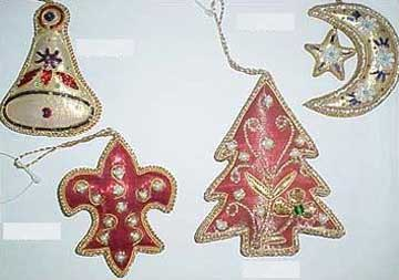 Hand Embroidered Christmas Ornaments 02 Manufacturer Exporters