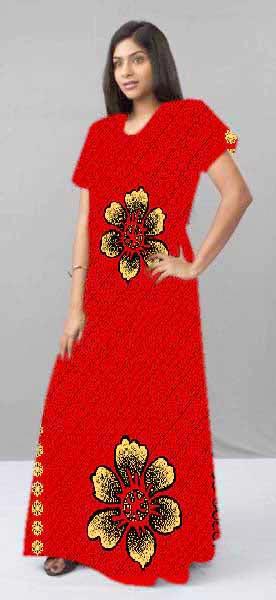 5ecacb5985 Ladies Cotton Printed Gown Manufacturer in Balotra Rajasthan India ...
