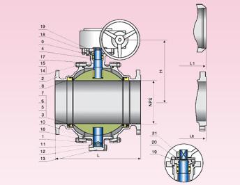 1500 LB Cast Steel Ball valve