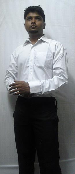 Buy formal shirt in white with black pants from custom for White shirt black pants