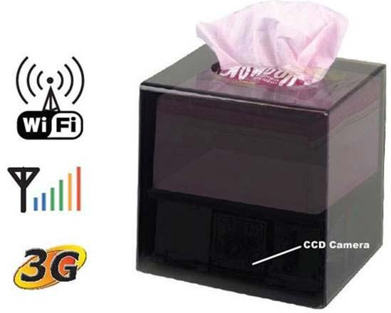100 Spy Wifi Camera in Tissue Box (100)