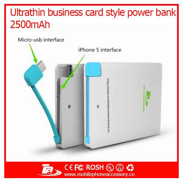 Card Shape 343 Wired Power Bank