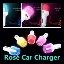 571 Rose Car Charger With 2 USB (571)