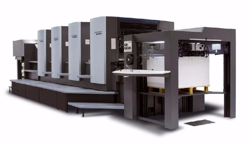 Used HEIDELBERG SM 102 F LX 5 COLOUR WITH COATER Offset Machine