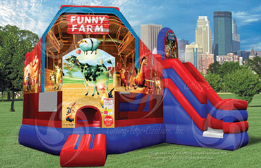 Inflatable Funny Farm Combo