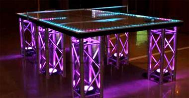 LED Custom Ping Pong Table