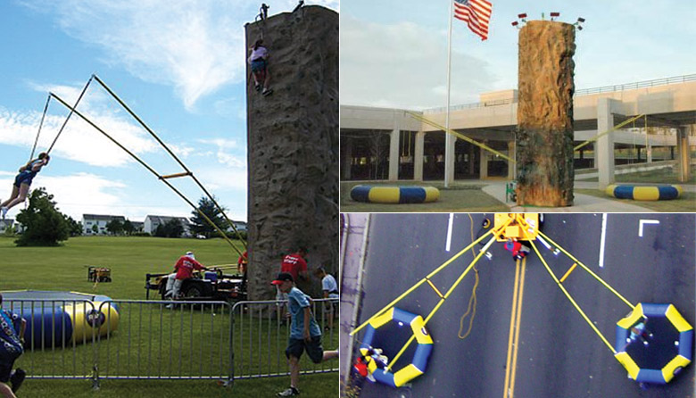 Rock Wall With Extreme Air